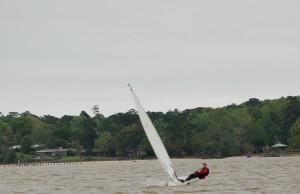 First regatta racing lasers